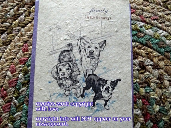 family ( a best friend's song )celebration of the journey cards/storybook cards/unique empathy condolence cards