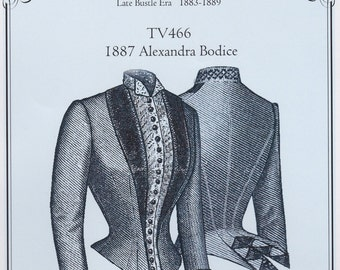 TV466 - Truly Victorian #466, 1887 Alexandra Bodice Sewing Pattern