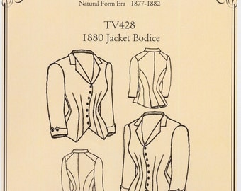 TV428 - Truly Victorian #428, 1880 Jacket Bodice Sewing Pattern