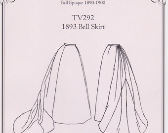 TV292 - Truly Victorian #292, 1893 Bell Skirt Sewing Pattern