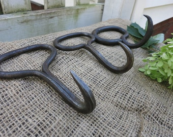 Antique hay hooks