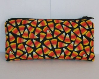 "Halloween Pouch, Pipe Pouch, Candy Corn Bag, Pipe Case, Pipe Bag, Padded Pouch, Small Pouch, Gift Idea, Festive Bag, Pipe Cozy - 5.5"" SMALL"