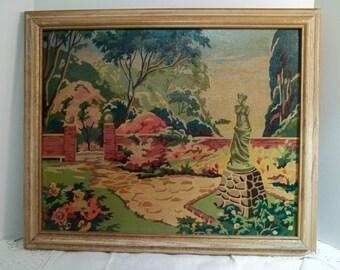 Paint By Number Greek Goddess Garden Statue Formal Garden Vintage
