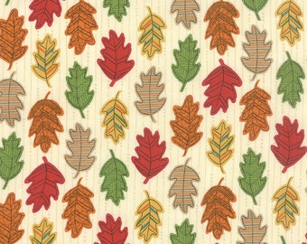 Forest Fancy by Deb Strain - Fall Falling Leaves Natural - Moda 19715 16