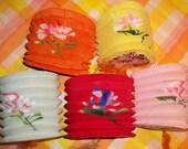 Vintage paper lanterns, Japan, accordian style, made in Hong Kong