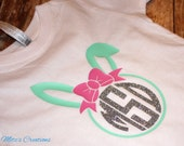 Easter Bunny Ear Monogram TShirt - Personalize the way you like - Pick your colors