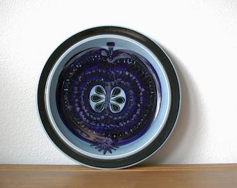 Large Vintage Fructus blue fruit chop platter plate by Arabia of Finland Designed by Gunvor Olin-Grönqvist