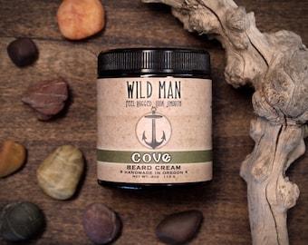 Wild Man Beard Cream - COVE - Beard Balm 113g // 4oz - Beard Grooming