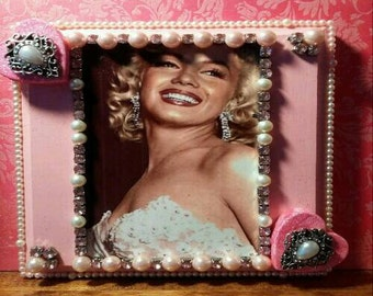 Marilyn Monroe Pink OOAK Altered Art