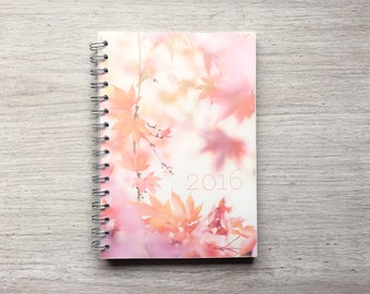 2016 planner diary floral photos flower photography pretty nature organize week per view
