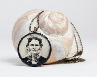 Crazy Uncle - Victorian Pendant - Steampunk Necklace