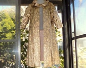 50's Gold Vintage Brocade Swing Coat