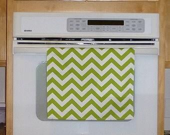 Green Kitchen Hand Towel - Chevron Green Apple Decorative Kitchen Towel