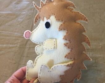 Felt Pattern-Hedgehog-Plushie