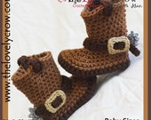 Crochet Pattern Baby Sizes Cowboy Boots