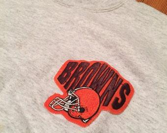 Vintage Cleveland Browns Turtle Neck Sweatshirt