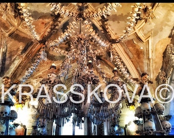 Limited edition Ossuary photo: Sedlec Chandelier