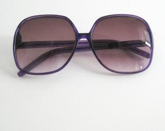 Vintage Oversized Purple Sunglasses