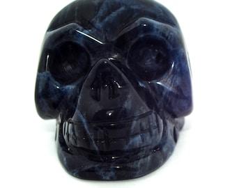 "Sodalite Crystal Skull, 1-3/4"""