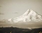Mount Hood Photography Print 11x14 Fine Art Oregon Pacific Northwest Mountain Volcano Wilderness Snow Spring Landscape Photography Print.