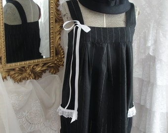 Upcycled jumper or top, black dress