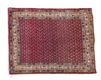 3x4 Vintage Sarouk Rug