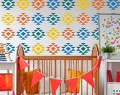 Tribal Triangle Pattern Wall Decal