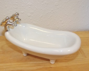 Ceramic Soap Dish, Porcelain Bathtub Soap Dish, Mini Soap Dish, Dish for Soap, Bath Room Decor, Decorative Soap Dish