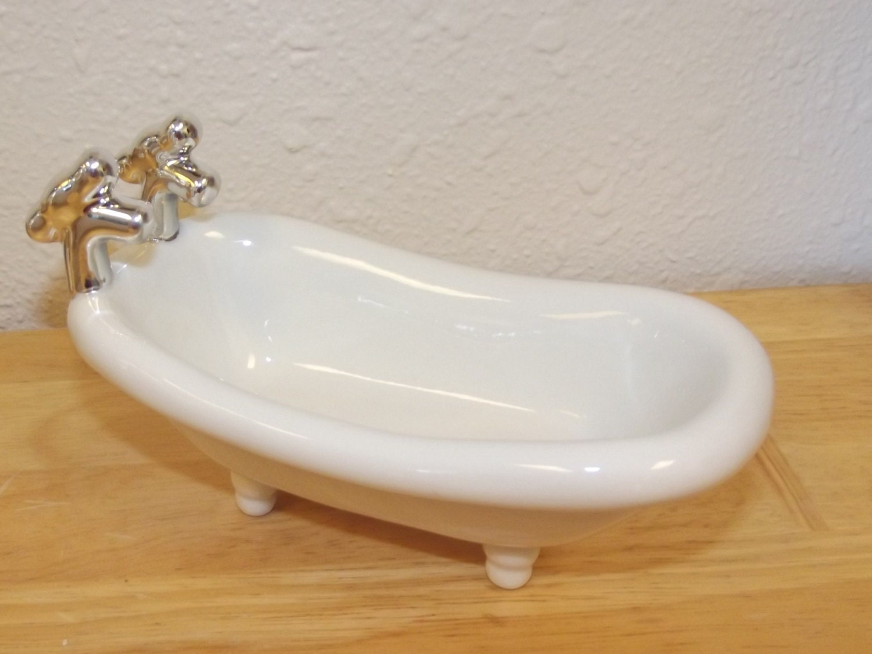 Ceramic Soap Dish Porcelain Bathtub Soap Dish Mini Soap