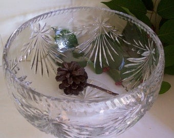 Crystal Cut Glass Bowl