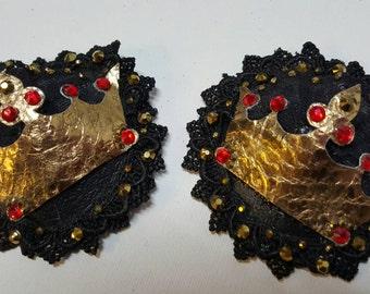 Golden Crown Nipple Pasties
