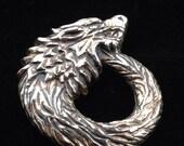 Dire Wolf pin pendant brooch