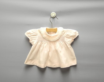 Vintage Baby Clothes, 1960's Soft Pink Baby Girl Dress Set, Pink Baby Dress, Vintage Baby Dress, Size 0-3 Months