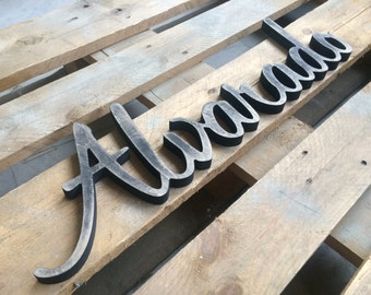 Nursery  Wall Decor Name Sign, Personalized sign Baby Name, Custom wood sign, Custom name sign, Baby Name sign, Personalized wood sign