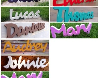 Custom baby name sign Svetulka design. Personalized Sign name of a child. Children names signs. Name signs nursery.