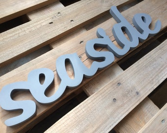 SEASIDE sign - sea cottage decor