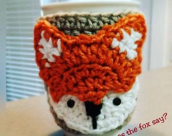 Fox Coffee cup Cozy