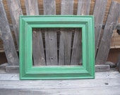Rustic OpenWood Frame - Distressed in Pepper Green -  Wall Decor