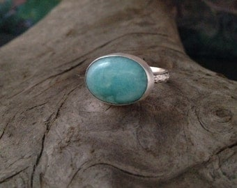 Sterling silver an amazonite ring