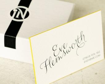Items Similar To Custom Calligraphy Business Cards Custom