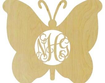 Monogramed Wooden Butterfly Shape - A130656