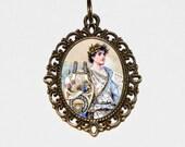 Orpheus Necklace, Greek Mythology, Father Of Songs, Lyre Jewelry, Oval Pendant