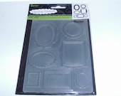 WALL FRAMES Embossing Folder by Darice Size A2
