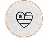 6mm Heart Flag Metal Stamp, ImpressArt American Flag Design Stamp, Impress Art Beach Stamps, Use w/ Texture Stamper, DIY Jewelry, Stamping