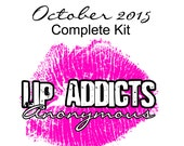 CLEARANCE SALE: October 2015 Lip Addicts Anonymous Complete Kit