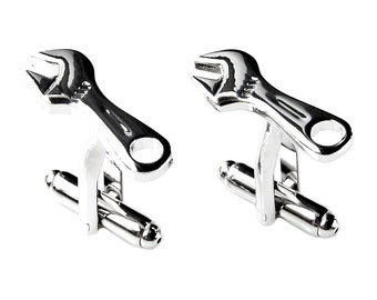 Wrench Cufflinks - Groomsmen Gift - Men's Jewelry - Gift Box Included