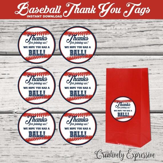 Baseball Party. Baseball Thank You Tags. Baseball Party