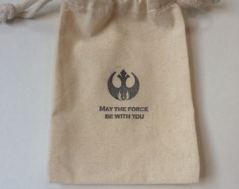 May the Force be With You / Set of 15/ Star Wars Favor Bags / Star Wars Party
