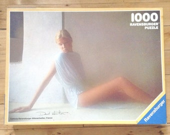 David Hamilton 1980s Vintage Jigsaw Puzzle - Sensual Woman Lost in thoughts - 1000 pieces -  MADE IN GERMANY - Dated 1984