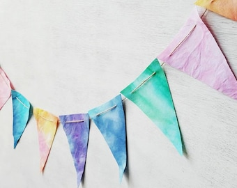 Ombre Tie Dye Banner for Birthday Photography Prop